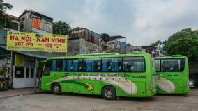 Przystanek autobusowy w Hanoi, Wietnam zdjęcia stock