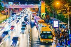 Przystanek autobusowy w Mo karteczce Bangkok Obraz Stock