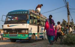 Przystanek autobusowy w Pokhara Obraz Royalty Free