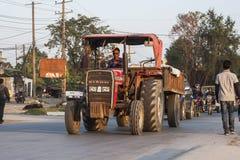 Przystanek autobusowy w Pokhara Obraz Stock
