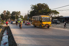 Przystanek autobusowy w Pokhara Fotografia Royalty Free