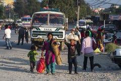 Przystanek autobusowy w Pokhara Obrazy Royalty Free