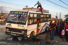 Przystanek autobusowy w Pokhara Zdjęcie Stock