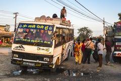 Przystanek autobusowy w Pokhara w Nepal Fotografia Royalty Free