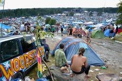Przystanek Woodstock is een open gebeurtenis, zijn de geloofsbrieven niet requir Royalty-vrije Stock Afbeeldingen