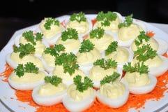 przystawki jajeczne Fotografia Stock