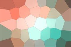 Przystojna abstrakcjonistyczna ilustracja czerwieni, błękitnego i zielonego pastelowy Giganta sześciokąt, Pożytecznie tło dla twó ilustracja wektor