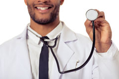 Przystojna Afro amerykanina lekarka Zdjęcie Royalty Free