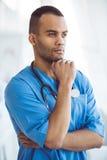 Przystojna Afro amerykanina lekarka Obraz Royalty Free