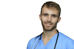 Przystojna lekarka odizolowywająca Zdjęcia Royalty Free