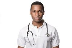 Przystojna młoda afrykanin lekarka Fotografia Stock