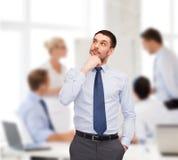 Przystojnego biznesmena przyglądający up Obraz Stock