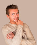 przystojnego mężczyzna modela portreta seksowni potomstwa Obraz Stock