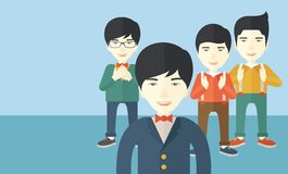 Przystojni azjatykci biznesmeni ilustracji