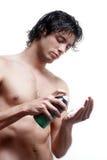 przystojni mężczyzna golenia skóry potomstwa Zdjęcie Stock