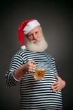 Przystojny żeglarz żeglarz piwny Claus Santa Fotografia Stock