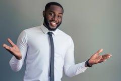 Przystojny Afro amerykanina biznesmen Zdjęcia Royalty Free