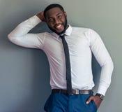 Przystojny Afro amerykanina biznesmen Fotografia Royalty Free