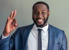 Przystojny Afro amerykanina biznesmen Obraz Stock