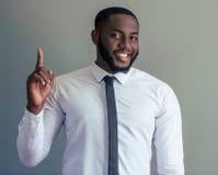 Przystojny Afro amerykanina biznesmen Obrazy Stock