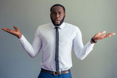 Przystojny Afro amerykanina biznesmen Fotografia Stock