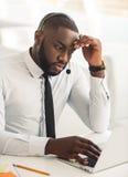 Przystojny Afro amerykanina biznesmen Obraz Royalty Free