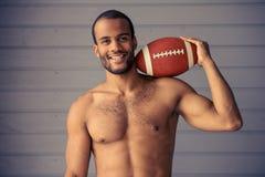 Przystojny Afro amerykanina sportowiec Fotografia Royalty Free