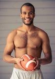 Przystojny Afro amerykanina sportowiec Zdjęcia Stock