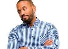 przystojny Amerykanin afrykańskiego pochodzenia mężczyzna zdjęcie stock