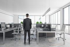 Przystojny biznesmen w nowożytnym biurze obrazy stock