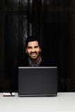 Przystojny biznesowego mężczyzna ono uśmiecha się Zdjęcie Stock
