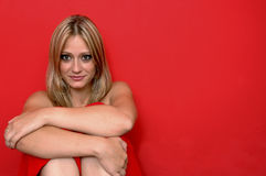 przystojny blondynkę model Obraz Royalty Free