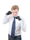 przystojny boksera biznesmen Zdjęcia Royalty Free