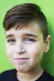 przystojny chłopak portret zdjęcie royalty free