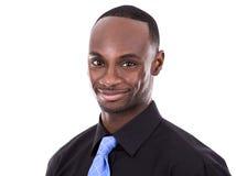 Przystojny czarny biznesmen Zdjęcia Stock