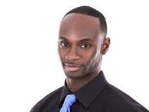 Przystojny czarny biznesmen Fotografia Royalty Free