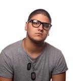 przystojny eyeglasses mężczyzna Zdjęcie Stock