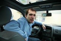 przystojny kierowcy mężczyzna Zdjęcia Stock