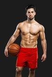 przystojny koszykówka gracz zdjęcia stock