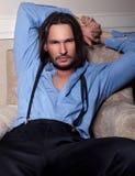 przystojny mężczyzna Fotografia Royalty Free