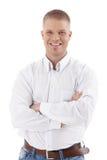 Przystojny mężczyzna przypadkowy biznesowy portret Zdjęcie Stock