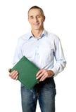 Przystojny mężczyzna trzyma jego kalendarzowy Zdjęcia Stock