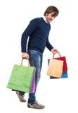 Przystojny mężczyzna z torba na zakupy Zdjęcie Stock