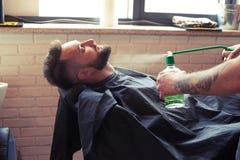 Przystojny mężczyzna z wąsy i brodą Obrazy Royalty Free