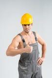Przystojny męski budowniczy Zdjęcie Royalty Free