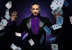 Przystojny magik Fotografia Royalty Free