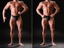 Przystojny mięśniowy bodybuilder Zdjęcia Royalty Free