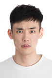 Przystojny młody Asia mężczyzna - odizolowywający nad białym tłem Zdjęcia Stock