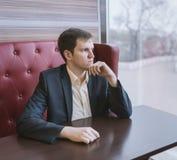 przystojny portret biznesmena Fotografia Royalty Free