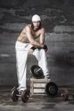 Przystojny sportowy mężczyzna Fotografia Stock